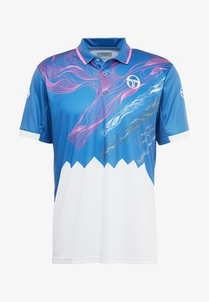 LIQUIFY  - Sportshirt - federal blue/white/wild orchid