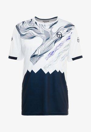 LIQUIFY  - Printtipaita - white/navy/deep blue