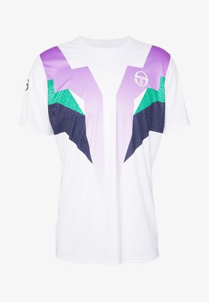 T-shirt print - white/green