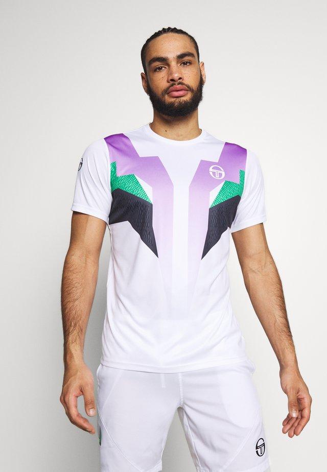 T-shirt med print - white/green