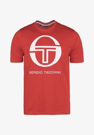 IBERIS - Print T-shirt - vintage red/white