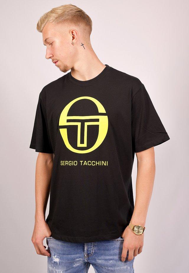 IBERIS - Print T-shirt - black/lime
