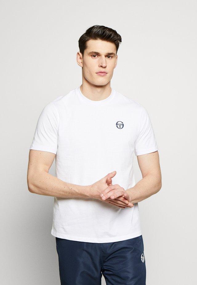 SERGIO SS20 T-SHIRT - Basic T-shirt - white/navy
