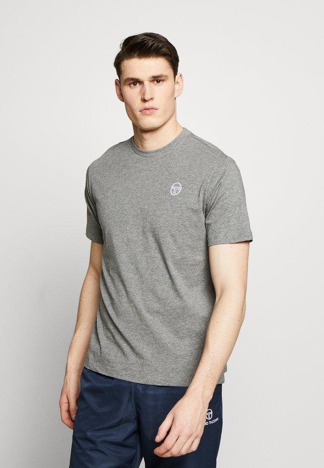 SERGIO  - T-shirt - bas - dark grey melange/white