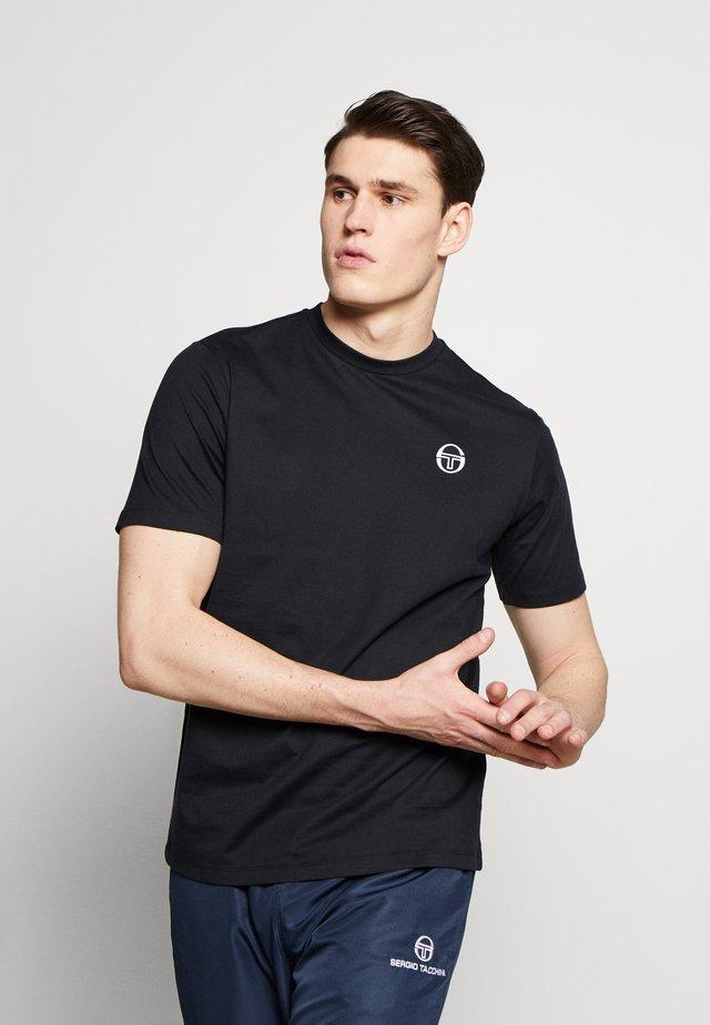 SERGIO  - T-shirt - bas - black/white
