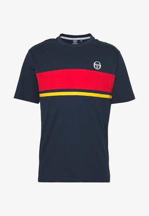 FELUGA  - T-shirt imprimé - navy/vintage red