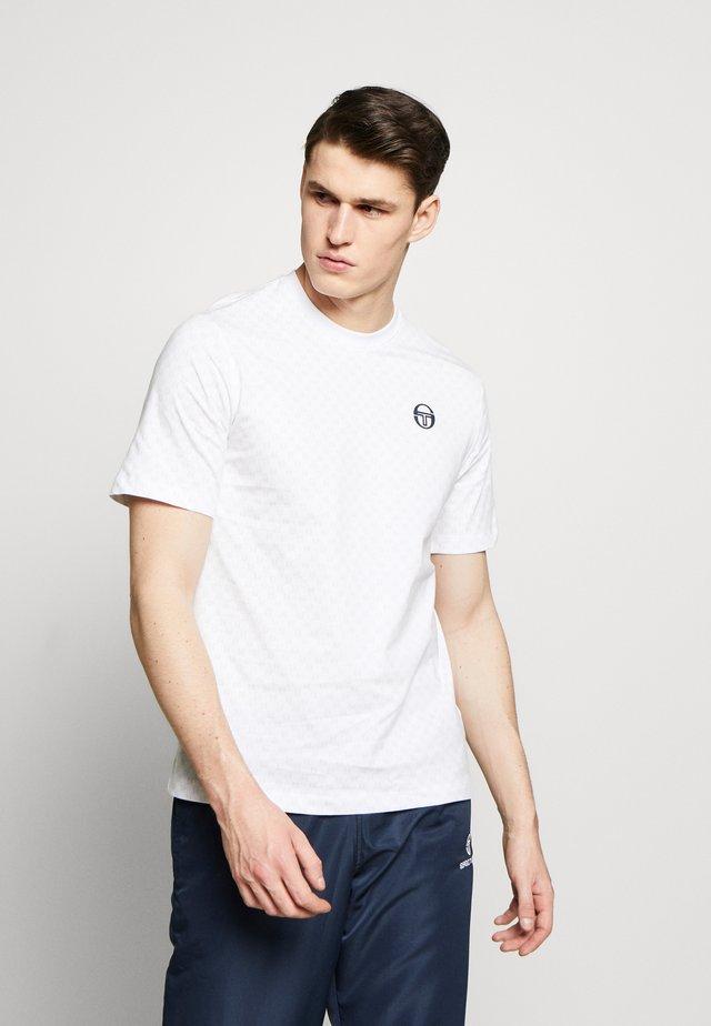 DIN  - T-shirt z nadrukiem - white/navy