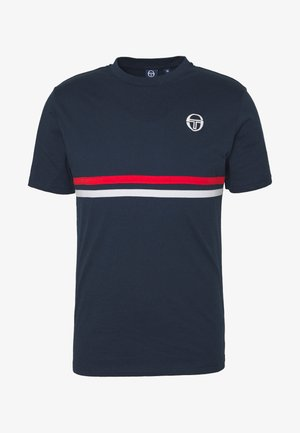 FRIDAY - T-shirt imprimé - navy/vintage red