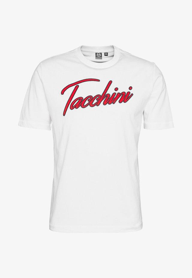 FORCE - T-shirt med print - white/vintage red