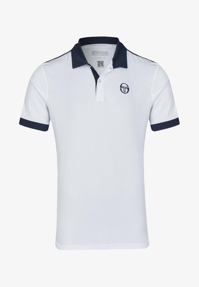 CLUB TECH - Polo shirt - white/dark blue