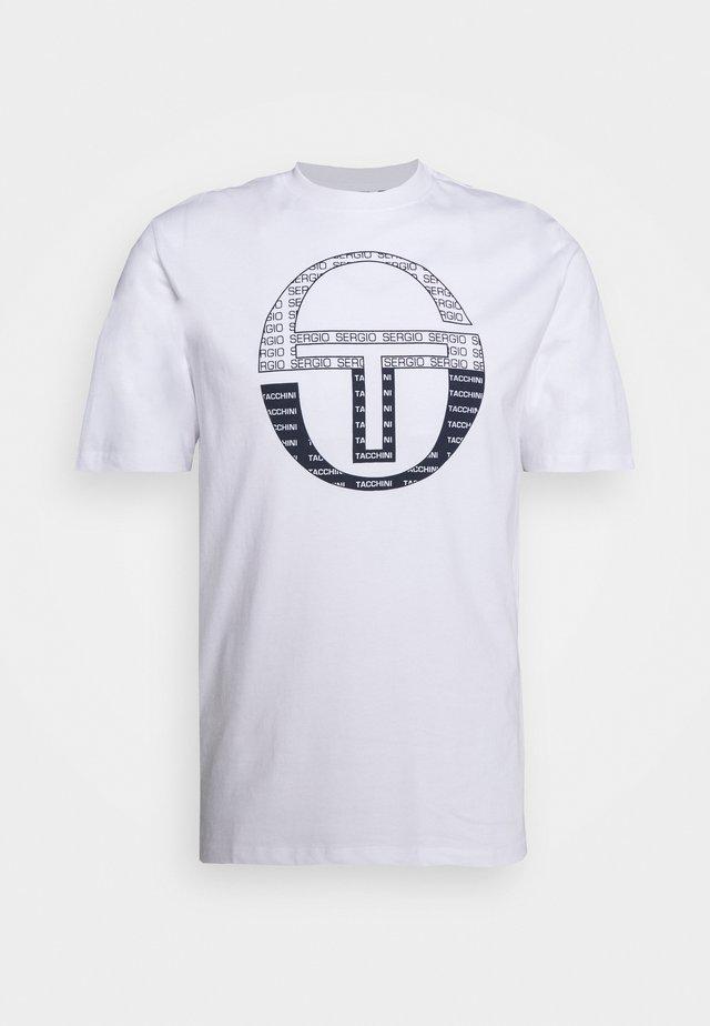 BOTERO - T-Shirt print - white/navy