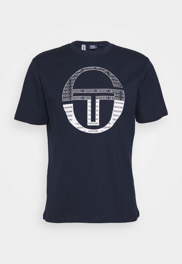 BOTERO - T-Shirt print - navy/white