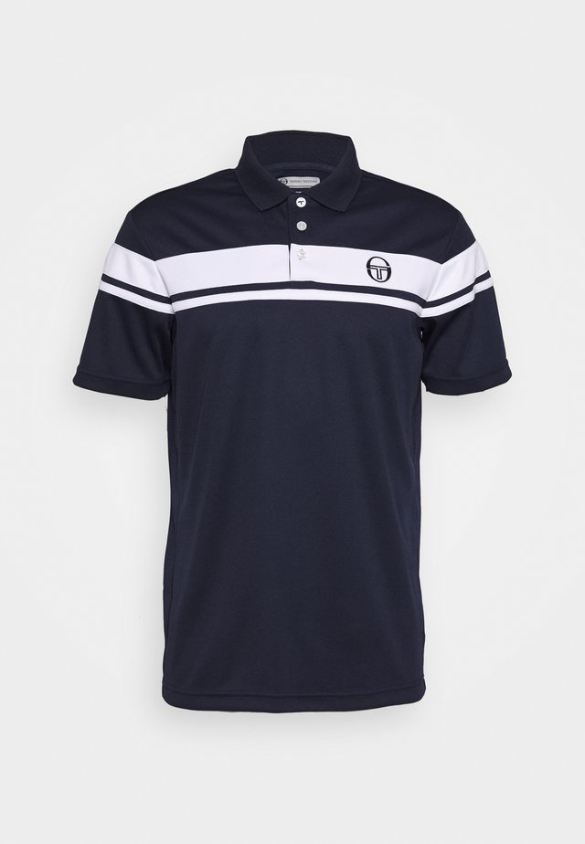 YOUNG LINE - Polo - navy/white
