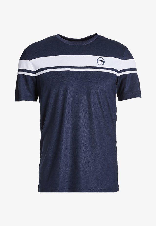 YOUNG LINE PRO T-SHIRT - Print T-shirt - navy/white