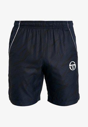 LIQUIFY SHORTS - Sports shorts - navy/white/sharkskin