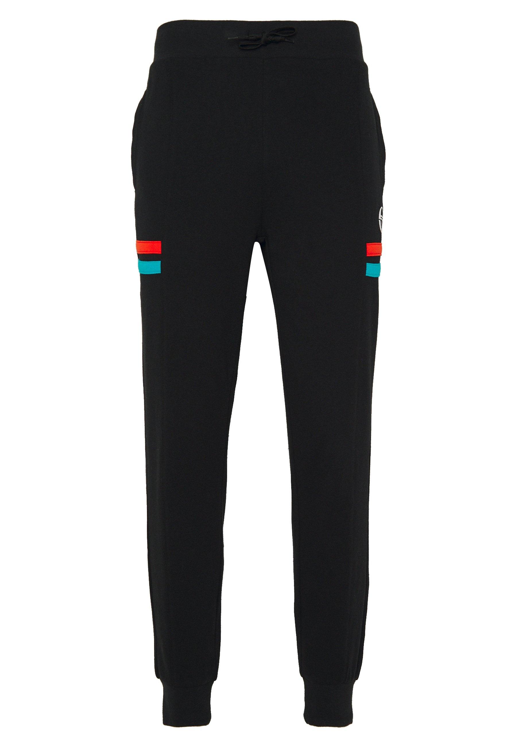 sergio tacchini FOREST PANTS - Pantalon de survêtement - black/flash orange