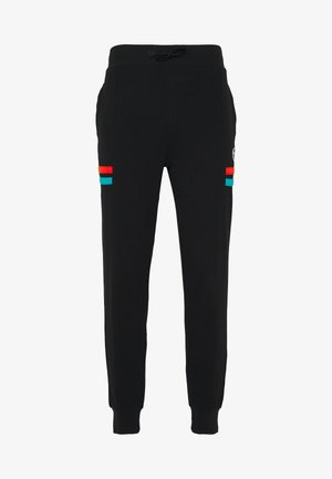 FOREST PANTS - Trainingsbroek - black/flash orange