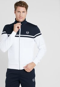sergio tacchini - YOUNG LINE PRO TRACKTOP - Training jacket - white/navy - 0