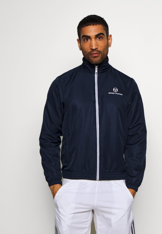 CARSON TRACKTOP - Trainingsvest - navy/white