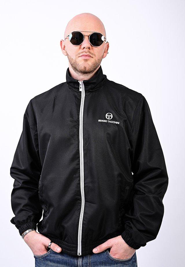 CARSON TRACKTOP - Training jacket - black/white