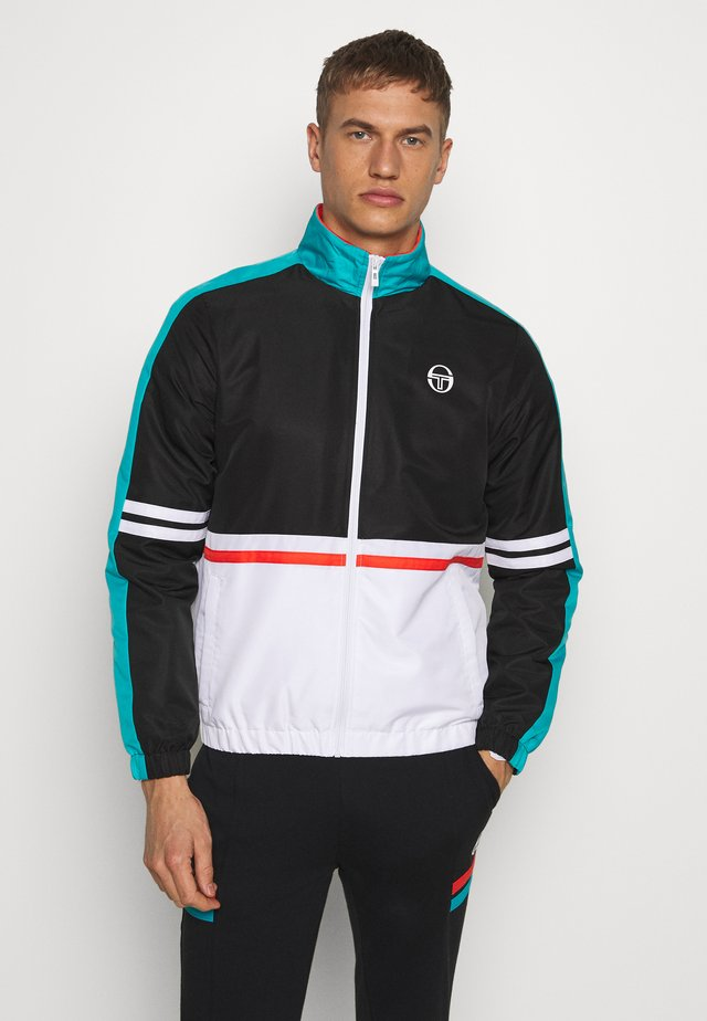FELIX TRACKTOP - Trainingsvest - black/white/blue bird