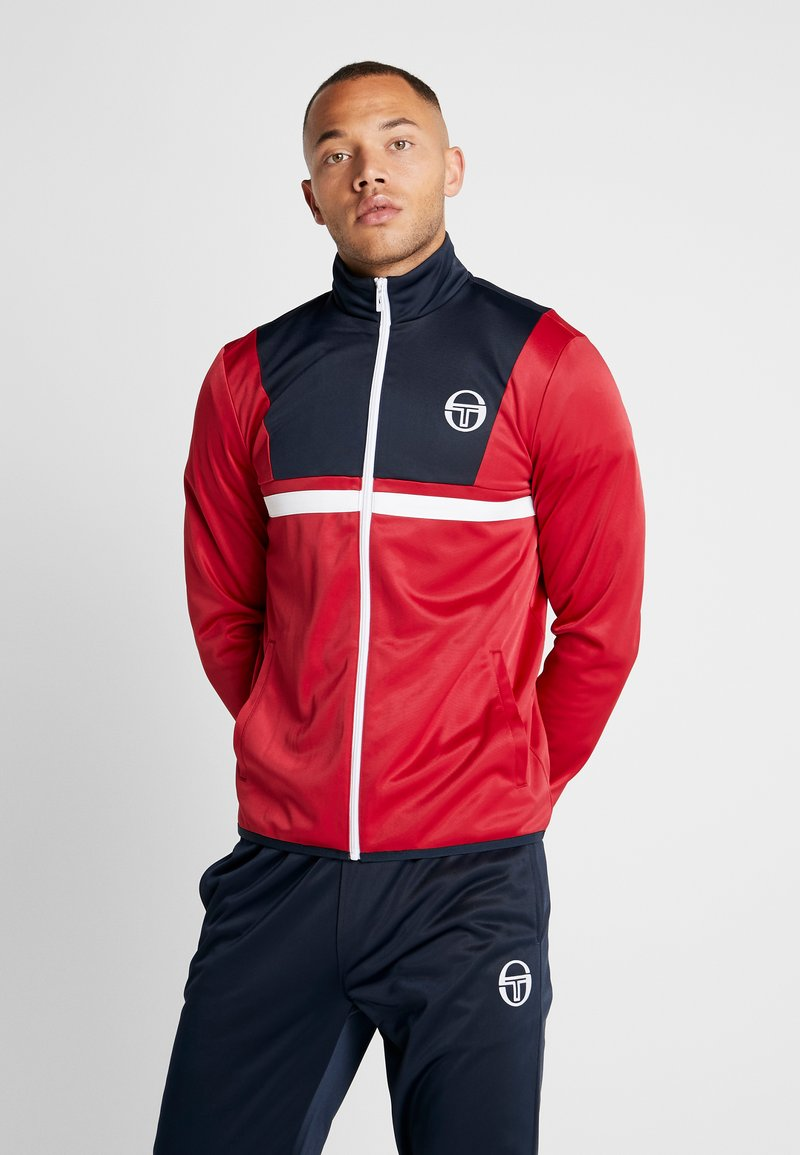sergio tacchini - DEXTER TRACKSUIT - Träningsset - navy/red