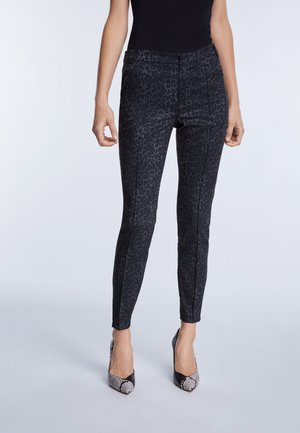 Trousers - grey/black