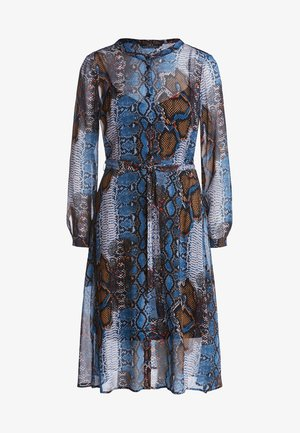MIT PYTHON - Shirt dress - dark blue/camel