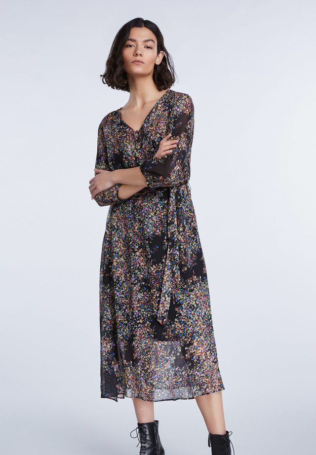 Day dress - black violett