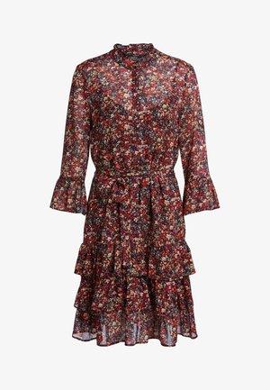 Korte jurk - black red