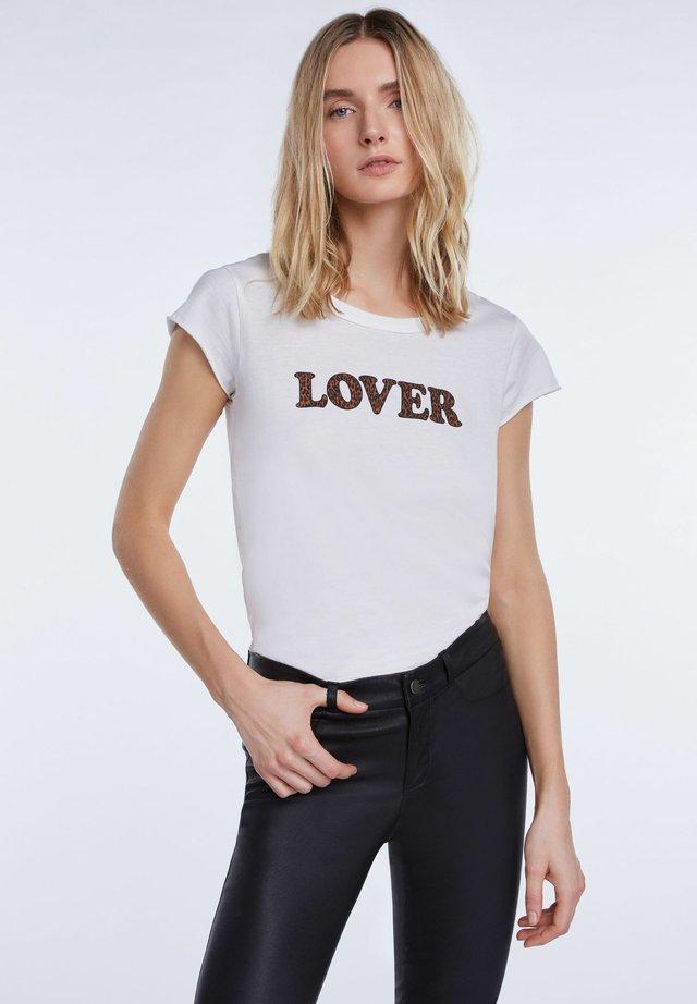 REBEL - T-Shirt print - off-white