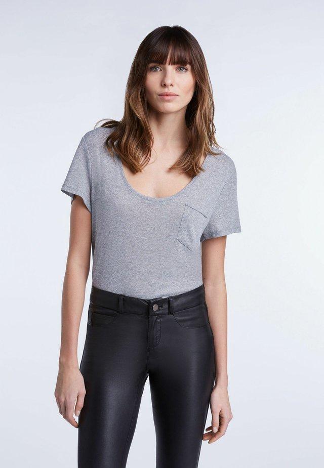 T-Shirt basic - silver/black