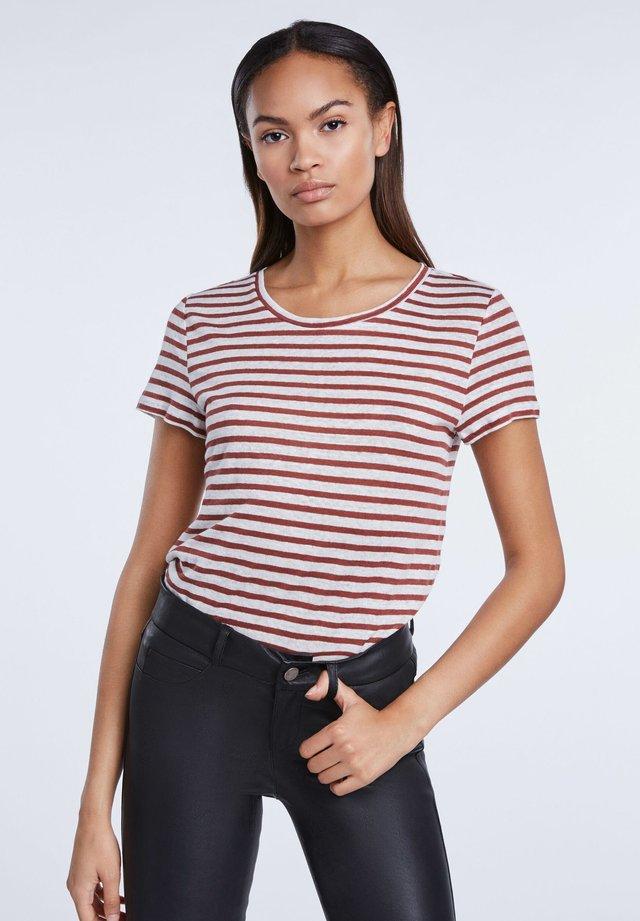 T-Shirt print - white red