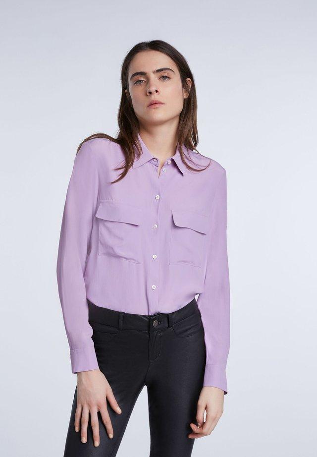 Hemdbluse - purple