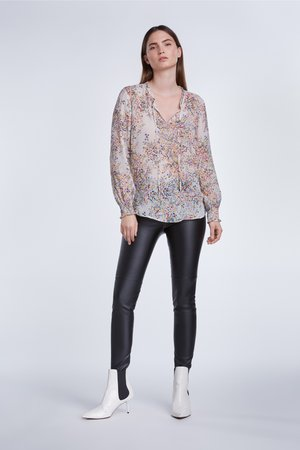 Blouse - offwhite violet