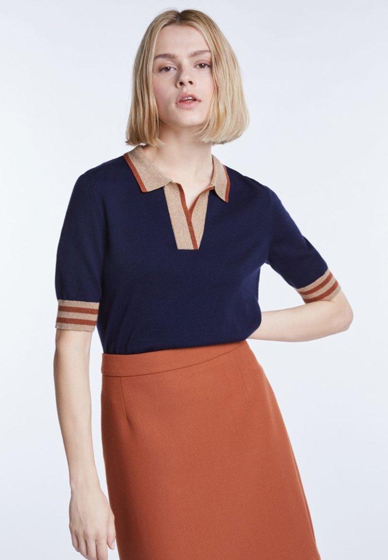 SET - T-Shirt print - dark blue