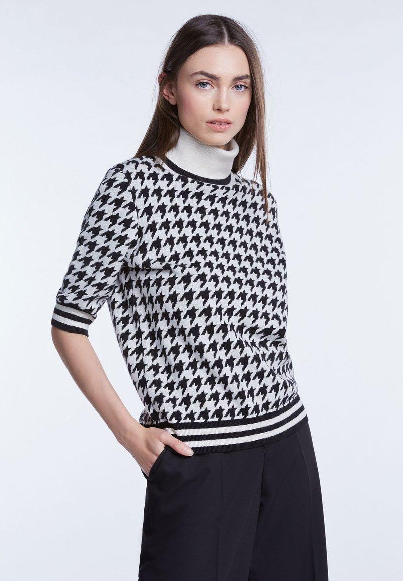 SET - Strickpullover - white/black