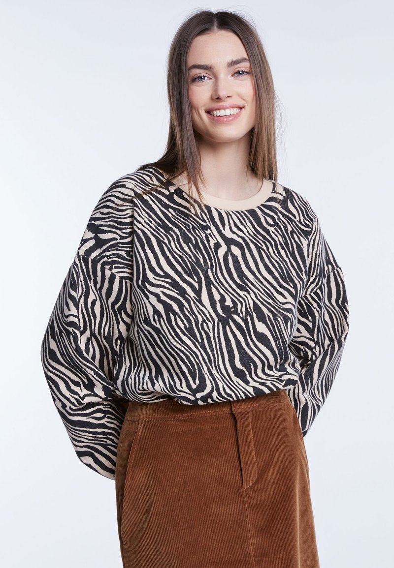 SET - Sweatshirt - black/white