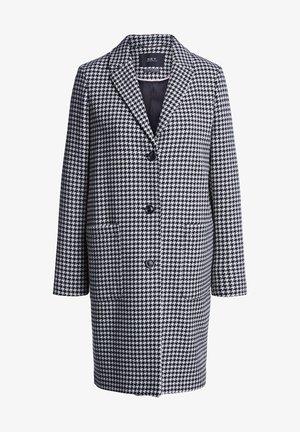 Classic coat - black white stripes