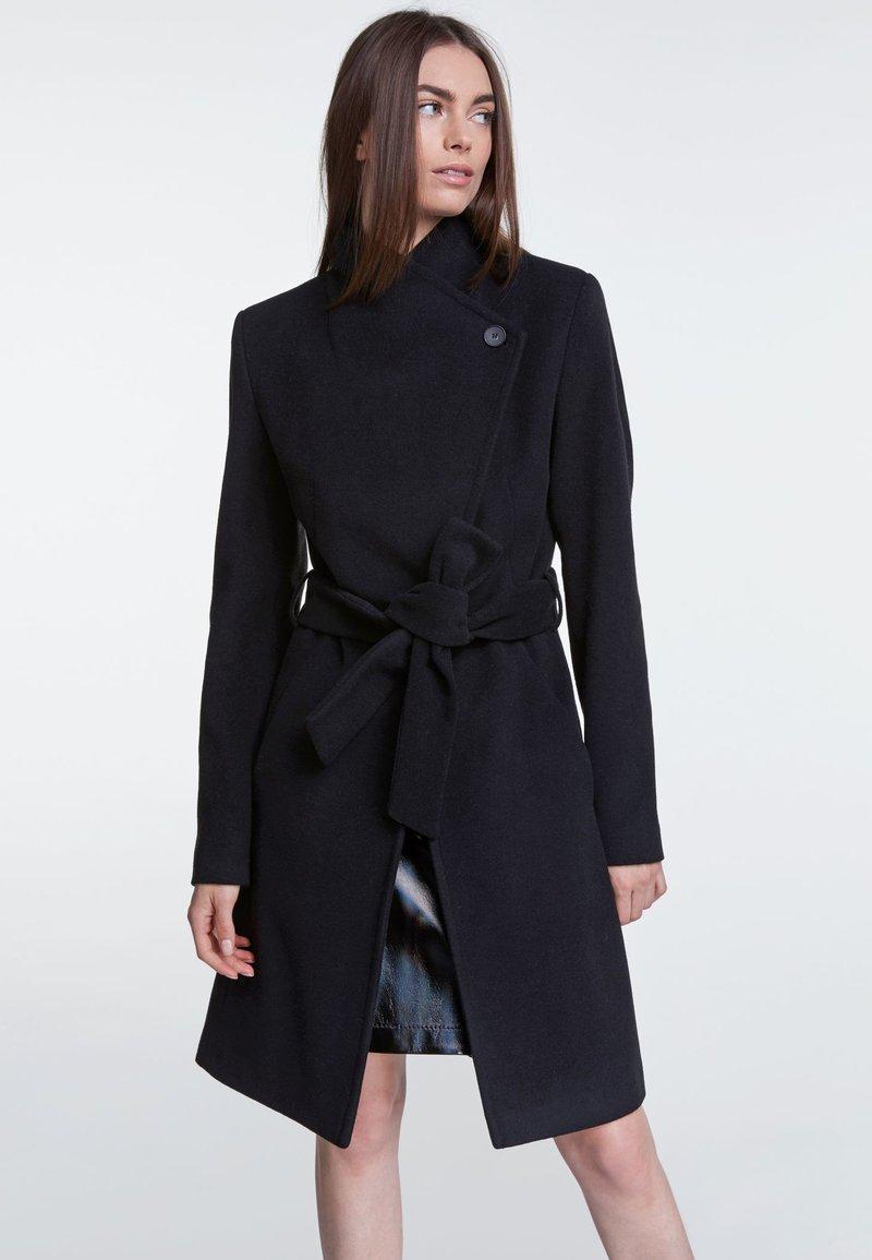 SET - Wollmantel/klassischer Mantel - black