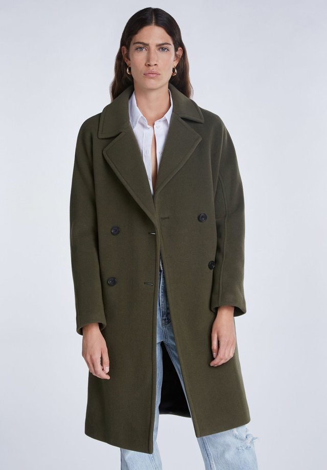Wollmantel/klassischer Mantel - khaki
