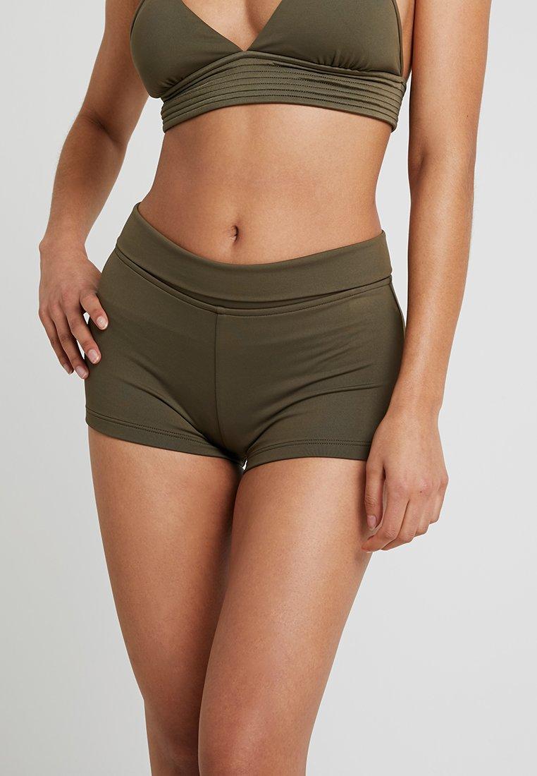 Seafolly - ROLL TOP BOYLEG - Bikini bottoms - dark olive