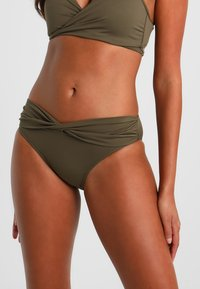 Seafolly - TWIST BAND HIPSTER - Bikinibroekje - dark olive - 0