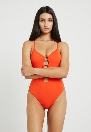 ACTIVE RING FRONT MAILLOT - Swimsuit - tangelo