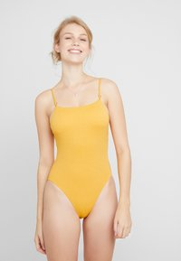 Seafolly - STARDUSTSQUARE NECK MAILLOT - Badedragter - saffron - 0