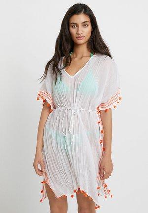MODERN LOVE MINI TASSEL KAFTAN - Beach accessory - white