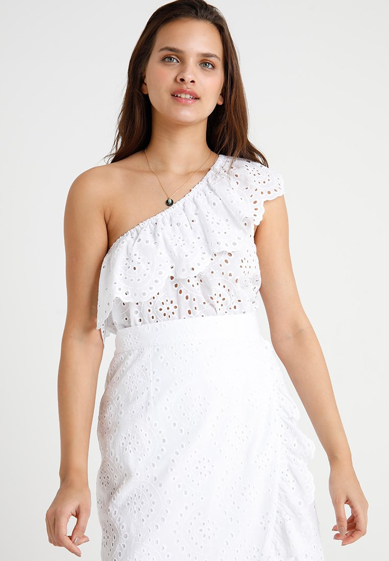 Seafolly - ONE SHOULDER BRODERIE - Complementos de playa - white
