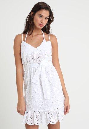 SUNFLOWER BRODERIE DRESS - Complementos de playa - white