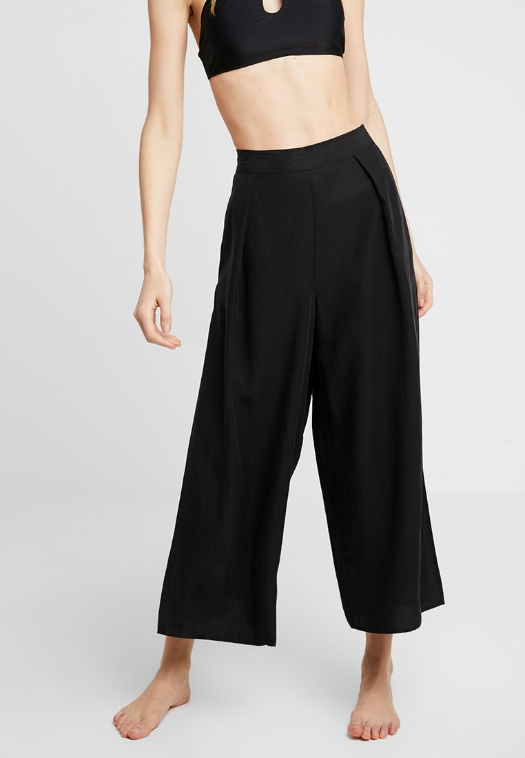Seafolly - INKAGYPSY BLEND SPLIT PANT - Trousers - black