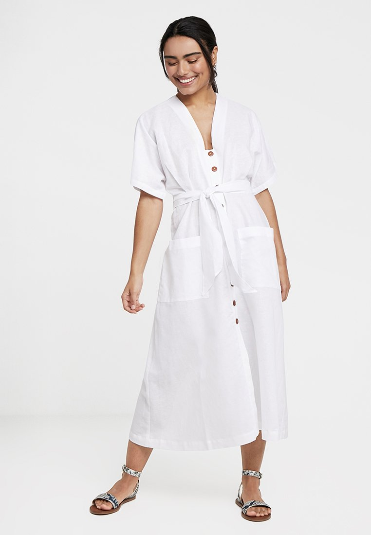Seafolly - OCEANALLEY BUTTON FRONT DRESS - Beach accessory - white